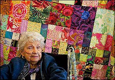Quilters craft positive version of global warming