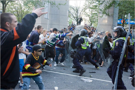 Canucks fans tussled with police following Game 7 in Vancouver.