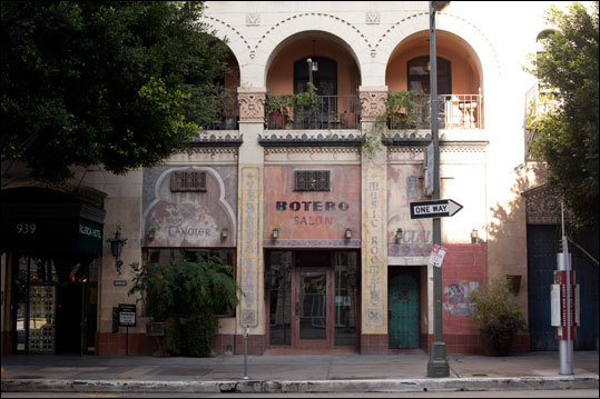 The Moroccan themed Hotel Figueroa was built in 1925 as a YWCA residence.