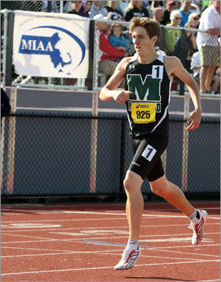 Mansfield runs to title Boys' All-State track: Junior Josh Lampron won the 800 as the Hornets followed the lead of their runners to grab the title over Acton-Boxboro. Story: Mansfield up to speed
