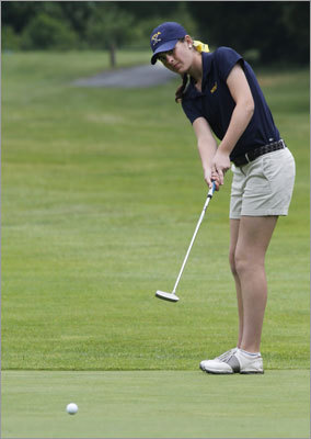 Notre Dame-Hingham win 10th straight MIAA girls' golf championship: The Cougars, led by medalist Lauren Flynn's 74 at Green Harbor CC in Mansfield, shattered the school record by 15 strokes en route to their 10th straight title. Aimee Dubois shot 75 for Notre Dame. Story: Another crown for Notre Dame