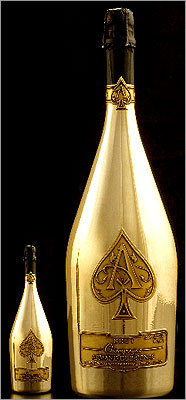 The most famous of all was the $100,000 bottle of Armand de Brignac Champagne 'Midas.' Shrine owners Ed Kane, Joe Kane, and Randy Greenstein personally delivered the 30-liter 'Midas' bottle, which is one of six in existence. The bottle was twice as large as the 15-liter Armand de Brignac ('Ace of Spades') brut that Mavericks owner Mark Cuban bought for his team after its NBA championship a week ago.