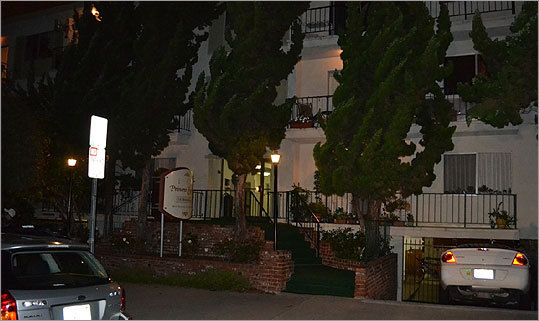 The three-story Princess Eugenia apartment complex contains 28 one- and two-bedroom units and is located three blocks away from the Pacific bluff. Whitey was found in a third-floor apartment.