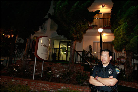 A tipster who saw the public service announcement urging the public to be on the lookout for Bulger's girlfriend, Catherine Greig, alerted the FBI that the couple was staying at this residence in Santa Monica.