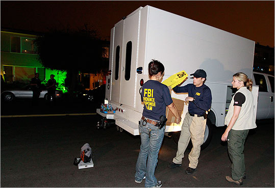 Members of the FBI's Evidence Response Team worked outside of the apartment building where Whitey was arrested.