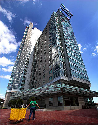 Boston University's Stu-V ll The residence hall, a 26-story high-rise that has views of the entire city's skyline, opened in 2009.