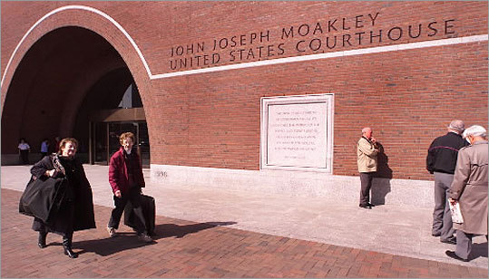 John Joseph Moakley United States Courthouse Last Friday, Bulger appeared at a courthouse that didn't exist when he left Boston 16 years ago. The John Joseph Moakley United States Courthouse, completed in 1998, is located on the Fan Pier waterfront site, overlooking historic Boston Harbor.