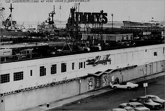 Seaport In the early 1980s the Southie waterfront was an isolated and desolate place. Even so, Jimmy's Harborside was a longtime institution in Southie. The restaurant was demolished in 2007. Now, the Seaport District has transformed into one of Boston's newest and trendiest locations , such as Temazcal Tequila Cantina, where its menus are displayed on iPads, and the five-level Legal Seafood.
