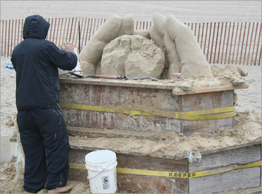 The sculptures will be available for viewing through June 28 at the top of 'G' Street at Hampton Beach.