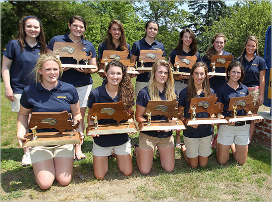 3. 10 straight for Notre Dame girls The most dominant spring team in the state resides in Hingham, home of your 10-time state champion Notre Dame of Hingham girls' golf team. This spring the girls won the MIAA team title and shattered the school record by 15 strokes in recording a score of 317 at Green Harbor. Numbers tell the story here. Notre Dame has a 149-match win streak and is 167-1 over the last 10 years. That's dominance. ''They came down here not being nervous and very comfortable, and I told them to just go enjoy it,'' said coach Dave Gianferante. Led by Lauren Flynn's 74, the strategy worked.