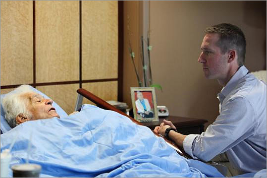 """Hospice worker As a hospice worker, Joe Ackerman is in the room when patients take their last breath. These moments, he said, are often filled with dignity and grace. """"It is an honor for me to be allowed in these rooms,'' said Ackerman, 40, an administrator at the Merrimack Valley Hospice House in Haverhill. """"You see the best in people at that time, and I leave with a sense of love and spirit that reaffirms life.''"""