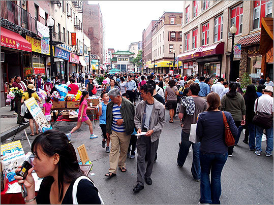 Thousands filled the streets of Chinatown on Sunday for the annual Chinatown Main Street Festival. Now in its sixth year, the festival has grown larger with each event, adding more exhibitors and drawing larger crowds, said Tony M. Yee, president of the festival's host and organizer, Chinatown Main Street.