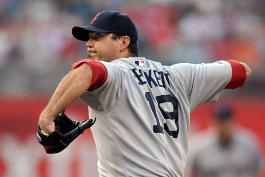 June 28: Phillies 5, Red Sox 0 Red Sox starter Josh Beckett pitched six innings and allowed five runs on five hits. It was his first start since June 15. He was sidelined by a lengthy bout with an illness.