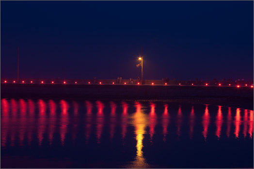 2006: Harbor Illumination from Seaside Park with the causeway all lit up.