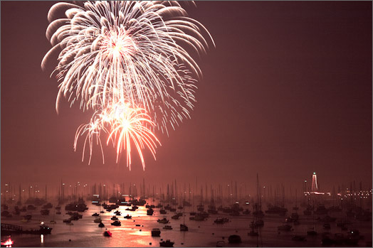 2006: Fireworks from Seaside Park.