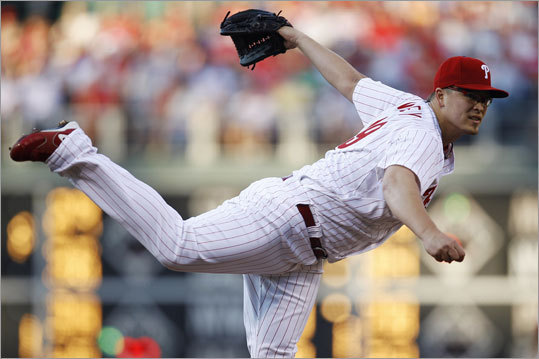 June 29: Phillies 2, Red Sox 1 Phillies starter Vance Worley earned his third victory with a five-hit, five-strikeout performance. Worley pitched seven innings and allowed one run.