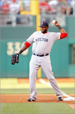 June 29: Phillies 2, Red Sox 1 David Ortiz played first base for the first time this season. While the move was designed to get Ortiz, normally a designated hitter, into the lineup for an interleague game at a National League ballpark, Ortiz went 0-for-4.