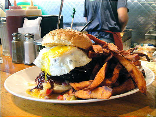 FBI Burger After Bulger was caught, Bartley's added a new edition to the menu the next morning: The FBI burger has the same ingredients as the Bulger, but with 'an egg on its face.'