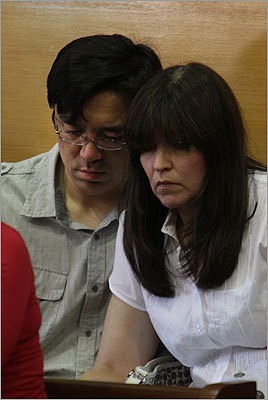 On the morning of July 4, police spoke to Fujita's father (left, in court at the July 5 hearing), who said the family had gone to a cookout in Framingham on July 3 and that his son left around 6 p.m. alone in his mother's car to go shopping, according to court records. When the parents returned home at 8:30, their son was already home.