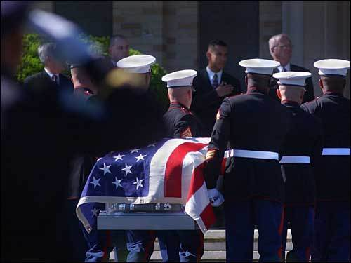 Funeral for Marine Lance Corporal Andrew Zabierek in Chelmsford, Mass., May 29, 2004