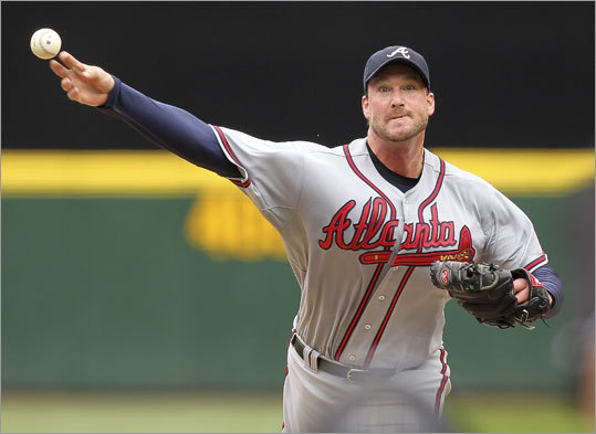 Derek Lowe, RHP Team: Braves Profile: The former Boston starter is in his third year with the Braves, who have the best pitching staff in baseball (by ERA). With as much pitching depth as the Braves have, Lowe might be expendable. Lowe is 38 years old and still making $15 million annually, which might pose a problem for the Red Sox in dealing for the tall righthander. Derek Lowe career statistics