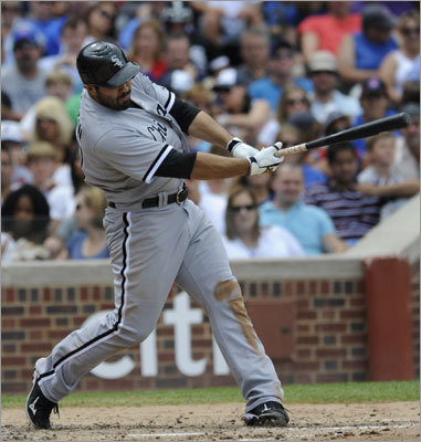 Carlos Quentin, OF Team: White Sox Profile: Quentin is producing for the White Sox and would fit into the Red Sox mold of sluggers. The White Sox could require a lot in exchange for Quentin (.253, 17 HR, 50 RBIs), and the Red Sox are not in a position to deal a starting pitcher. Carlos Quentin career statistics