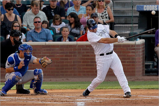 Ty Wigginton, Utility Team: Rockies Profile: Wigginton has AL East experience with the Rays and Orioles, and offers versatility on defense. He has 20 or more homers in four of his last five seasons and has 13 this season with the Rockies. His contract is attractive, too, as he's signed through 2012 with a team option for 2013. Ty Wigginton career statistics