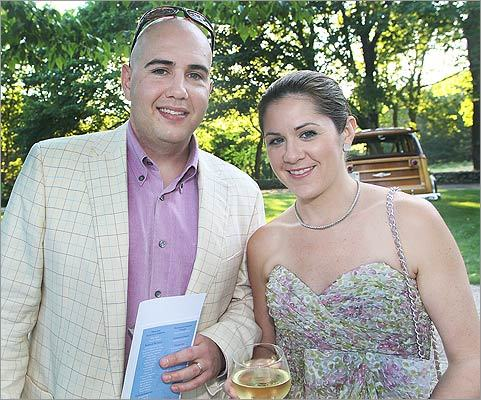 July 9 in Osterville Jeff Hendricks and Katy Kelly, of Wellesley.