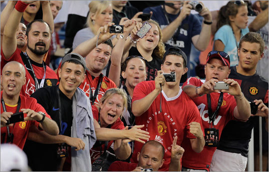 Fans turned out in force to see one of the world's most famous soccer teams, Manchester United of the English Premier League, face the New England Revolution at Gillette Stadium to kick off a five-city tour of the United States.