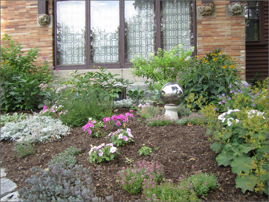 Fred Holland Day House garden is managed by club member Rita Russo. The garden was redesigned last year after renovations were completed on the exterior of the house. Read the full story here .
