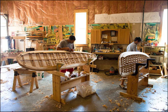 Surf's up! Grab your board and head for York Beach. If you don't have a board, build one. Grain Surfboards, in York, has almost a cult following for its handcrafted wood boards, and it offers classes for those who want to learn how to build their own. By the end of the week, you'll have built a board that's ready for glassing. The seven-day classes cost $1,675 per person, which includes materials and supplies and daily breakfast and lunch. A three-day team-building Board Blitz course includes instruction, but not the board, for $600 per person (boards may be purchased afterward). Plan to bring or buy tools and a respirator. 207-457-5313.