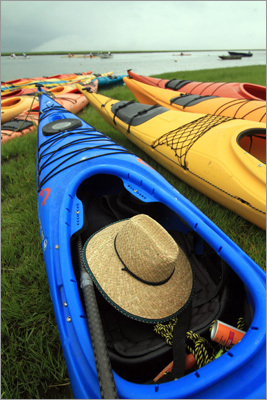 Kayaking took time to establish a foothold on Cape Cod, said Kim Fernandes-Huff, owner of Cape Cod Kayak, based in Cataumet. Interest was so low in the mid-1990s, she recalls, that some of her early business was given for free. Read: Surface attention