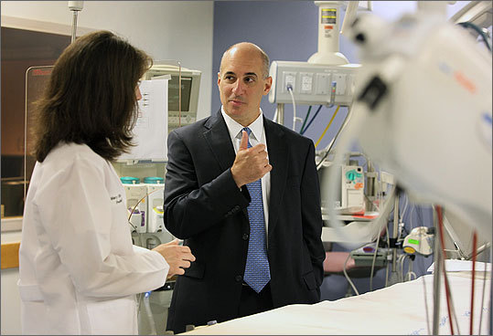 Tufts Medical Center Tufts Medical Center tapped Eric J. Beyer, an insider who built up its doctors group over the past five years, to be chief executive of the 415-bed Boston hospital in July. Beyer will take the reins Oct. 1, the start of the hospital's fiscal year.