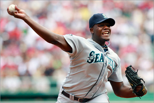 July 24: Red Sox 12, Mariners 8: Wakefield was opposed by Mariners rookie starter Michael Pineda.