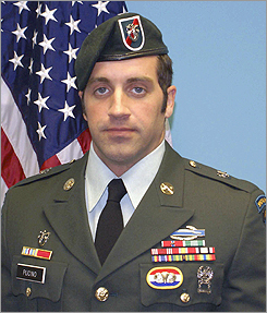 Staff Sergeant Matthew A. Pucino, 34, of Hudson Pucino, 34, a Hudson native who had been living in Maryland, was conducting a combat patrol in the Pashay Kala region of Afghanistan when his all-terrain vehicle was struck. He died on Nov. 23, 2009. Pucino enlisted in the Army in 2002 as a Special Forces candidate, went on to complete the qualifications course, and earned the coveted Green Beret as an engineer sergeant. He was awarded and was rewarded decorations including a Purple Heart and the Bronze Star, Army Commendation, and Global War on Terrorism Service medals.