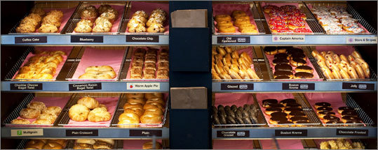 Bagels were added to the menu at Dunkin' Donuts in 1996. Breakfast sandwiches were added the following year.