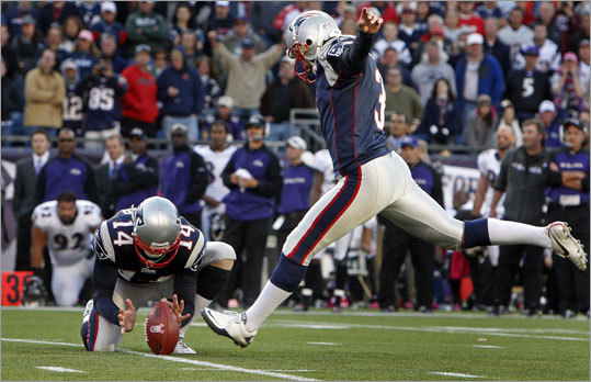 Stephen Gostkowski, K A good kicking game can sometimes be taken for granted, particularly when it comes to kickoffs. With Gostkowski healthy this season, his steel toe will give the Patriots tons of touchbacks on special teams, helping defensive field position. And despite his streakiness last year in eight games -- which we're not entirely sure he was actually healthy for -- his career field goal percentage is still excellent (84.3 percent).