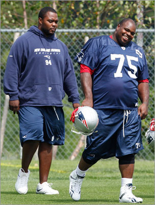 Patriots defensive linemen Vince Wilfork (right) talked about the addition that Haynesworth would bring to the line. ' I mean, I think he's a great player, hell of a player. I had a chance to play in the Pro Bowl with him, so I think he's a great athlete.'
