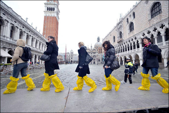 A century ago, Venice was flooded by waters surging in from the Adriatic Sea only about seven times a year. Now it happens approximately 100 times annually.