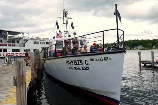 The M/V Sophie C. sails twice daily from Weirs Beach on mail runs to the islands of Lake Winnipesaukee. Mail service on Lake Winnipesaukee began in 1892, and the vessel, the only floating post office on an inland waterway in the United States, is the fifth boat to serve in the lake's postal service. Read more: Special delivery