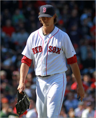 Clay Buchholz Following his 17-7, 2.33 ERA breakout season in 2010, the Sox' third starter was having another fine year in the rotation in 2011. He earned victories in his final two starts before exiting his June 16 start with a sore lower back after five innings. Buchholz missed the final 3 1/2 months of the season, watching helplessly from the bench as the Red Sox season imploded in September due largely to a lack of rotation depth.