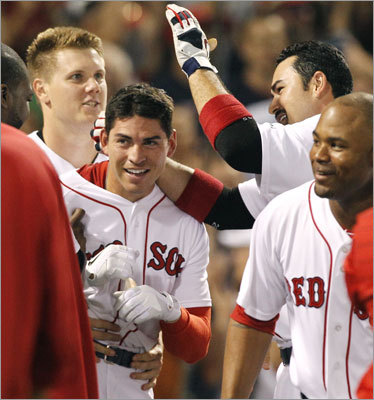 Aug. 3: Red Sox 4, Indians 3 Another night, another walk-off hit for Jacoby Ellsbury. His ninth-inning solo shot was his second game-winner in as many days as the Sox defeated the Indians, 4-3.