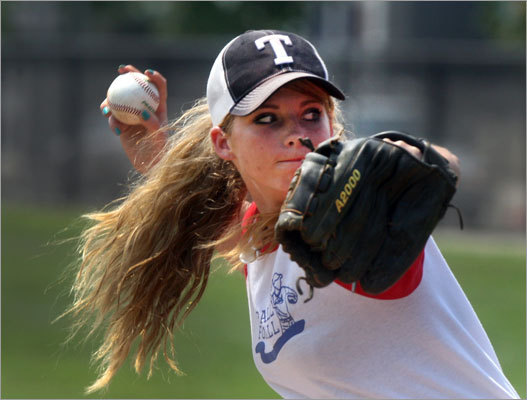 Michaela Sihler pitched in the game, too.