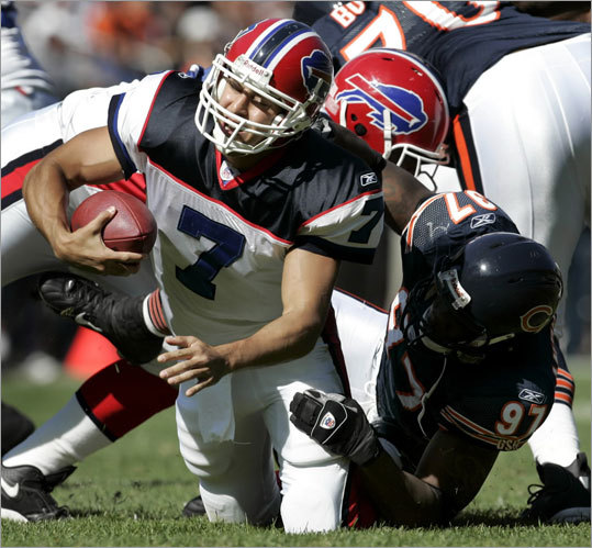 The Patriots also signed defensive end Mark Anderson (right). Anderson, who played four seasons with the Bears and last year with the Texans, is 6 feet 4 inches and 255 pounds. The Bears drafted Anderson out of Alabama in the fifth round in 2006. He had a dynamic season, leading all rookies with 12 sacks. In his career, he has 25 1/2 sacks and has forced five fumbles in 77 games.