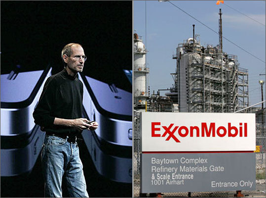 Investors seem to think you want an iPad more than oil, as Apple Inc. became the most valuable company in the United States , surpassing Exxon Mobil Corp. on Wednesday. Apple briefly flirted with the top spot on Tuesday afternoon before settling back slightly below the oil giant. Wednesday was the first time that Apple managed to stay number one after the stock market closed. Here's a look at the most valued US stocks, based on market capitalization as of close of trading on Aug. 10.