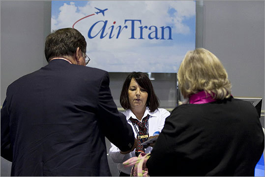 4. AirTran, 81.2 percent The airline, which was bought by Southwest Airlines last September, had an on-time rate of 81.2 percent.
