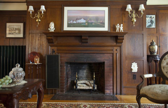 Located off Belknap Road, it once sat on 1,000 acres. Living space inside spans more than 9,000 feet. 'I would say it's the most spectacular house in Framingham,'' said Mary Murphy, a former president of the Framingham Historical Society. This fireplace in the living room is one of 14 at the house.