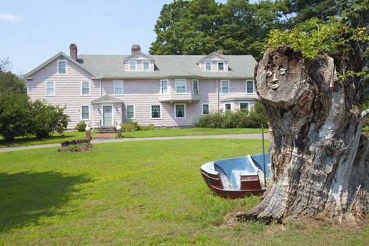 Lately Davis has been restless. He's been eyeing another house — a smaller one, where he hopes to build an addition to hold his furniture and collections — in Wells, Maine, where he has been spending much time lately. He sings at The Front Porch, the piano bar in nearby Ogunquit. Davis adorned the tree stump outside his home with a face. 'Childish I know, but I through it was cute,' he said. 'Everything can't be serious. You have to have some goofy here and there.'