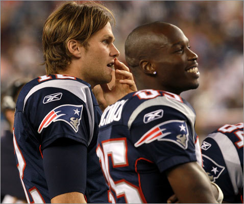 Patriots quarterback Tom Brady wide receiver Chad Ochocinco watched from the sidelines in the first quarter. The two stars didn't see any play time in the first preseason game. Other notables who didn't play included receivers Wes Welker and Deion Branch, and defensive linemen Vince Wilfork and Albert Haynesworth. The Patriots defeated the Jaguars 47-12 at Gillette Stadium in Foxborough.