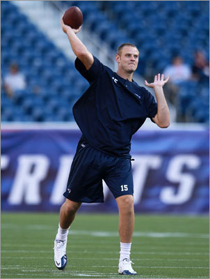 Rookie quarterback Ryan Mallett got ready for his first taste of professional football.